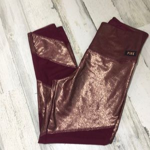 Victoria's Secret Ultimate mesh/metallic leggings